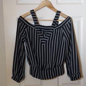 Bebe off shoulder long sleeve blouse